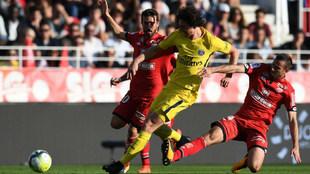 Adrien Rabiot durante el partido ante el Dijon