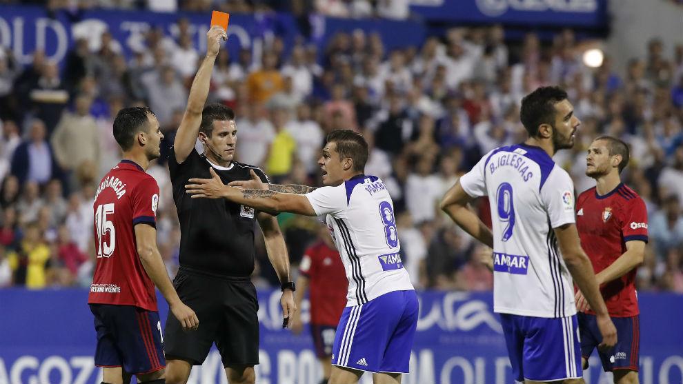 Pombo es expulsado ante Osasuna.