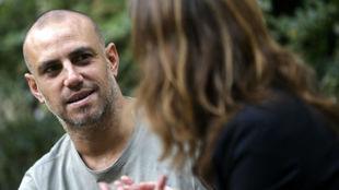 Moisés Hurtado, durante la entrevista con MARCA.