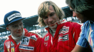 Niki Lauda y James Hunt.
