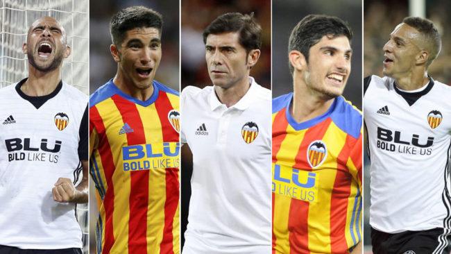 Zaza, Soler, Marcelino, Guedes y Rodrigo, esta temporada