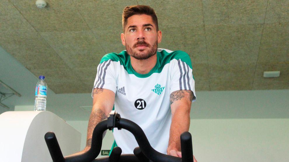 Javi García, en el gimnasio