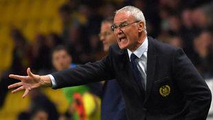 Ranieri durante un partido con el Nantes
