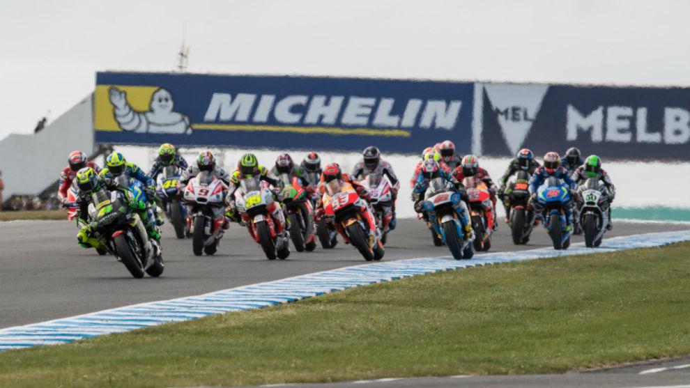 La carrera de MotoGP en Phillip Island 2016