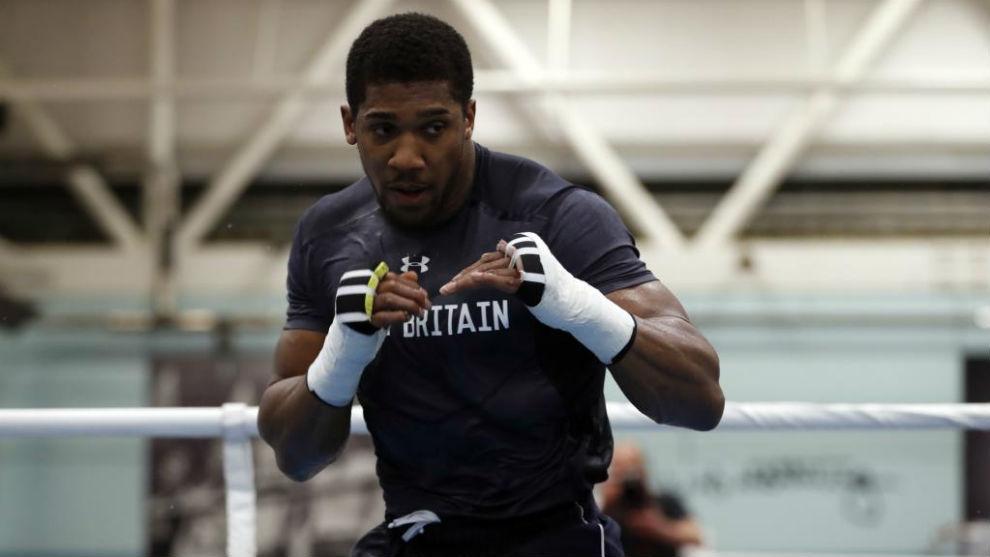 Anthony Joshua, durante un entrenamiento