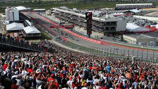 Vista panorámica de la recta de meta del circuito de Las Américas en...