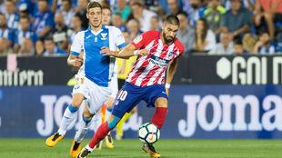 Ruben Pérez y Carrasco durante el Leganés-Atletico de Madrid