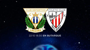 Cartel para promocionar el Leganés- Athletic Club.