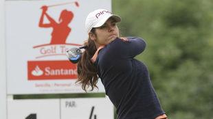 Natalia Escuriola, durante una prueba del Santander Golf Tour.