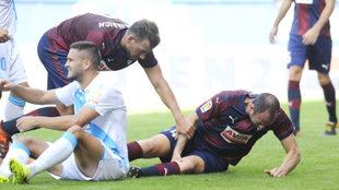 Lesión de Ramis ante el Deportivo.