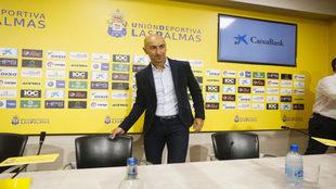 Ayestarán, entrenador de la UD Las Palmas.