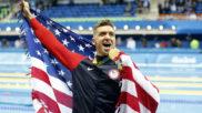 Anthony Ervin celebrando su triunfo en Río 2016