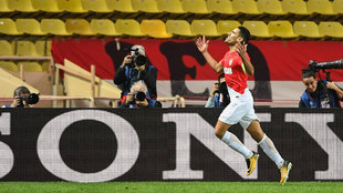 Falcao, celebrando su gol ante el Besiktas