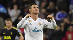 Cristiano Ronaldo celebra el gol logrado ante el Tottenham