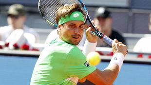David Ferrer durante un partido del torneo de Madrid Mutua Open.