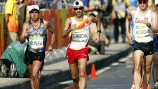 Jesús Ángel García Bragado, durante la prueba de 50 km marcha de...