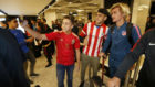 Griezmann, a su llegada a Bakú