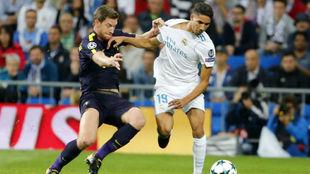 Achraf en el Bernabéu ante el Tottenham