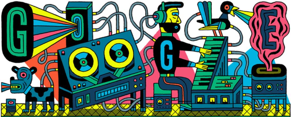 El doodle de hoy sobre el estudio de música eléctronica