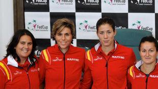 Conchita, María José Martínez, Garbiñe y Lara