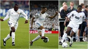 Geremi, Achraf y Eto'o, en partidos del Real Madrid
