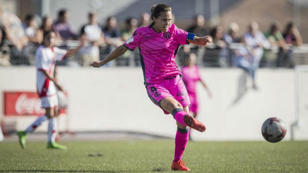 Sonia Prim, capitana del Levante, durante un partido esta temporada