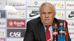 Alfonso García Gabarrón, durante una comparecencia antes los medios