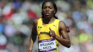 Novlene Williams-Mills, en los Juegos de Londres.