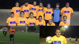 El equipo, en un entrenamiento; 'Pego', incansable; y Guille...