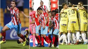 Celebración de las victorias ante Alcorcón, Córdoba y Barcelona B.