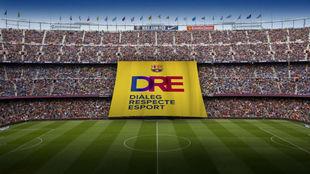 La pancarta que lucirá en el Barça-Olympiacos de Champions
