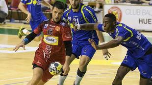 Eloy Félez, en el partido del pasado sábado en el que se lesionó
