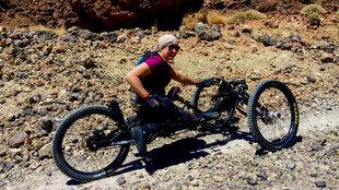 Gema Hassen-Bey entrenando la subida al Teide.