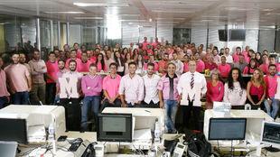 La redacción de MARCA se une a la lucha contra el cáncer de mama