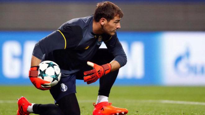 Casillas, antes del RB Leipzig - Oporto