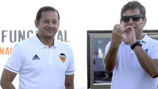 Anil Murthy y Mateo Alemany, en la ciudad deportiva de Paterna
