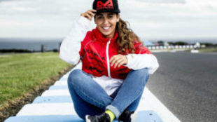 Mar�a Herrera, piloto de Aspar Team en Australia y Malasia