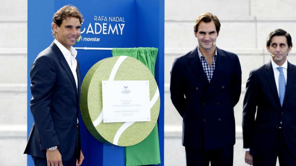 Nadal y Federer, en la presentación