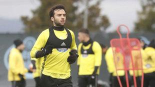 Rossi en un entrenamiento con el Celta la temporada pasada.