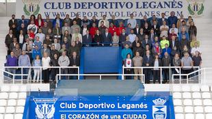 El alcalde de Leganés, la concejala de Deportes, Igualdad y Juventud,...