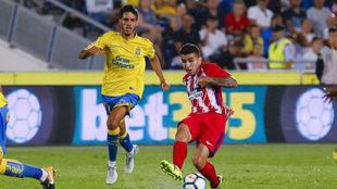 Fabio, con la camiseta de la UD Las Palmas, en el partido ante el...