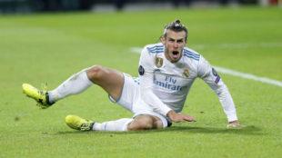 Bale durante un partido de esta temporada