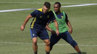 Barral y Abdullah, durante un entrenamiento.