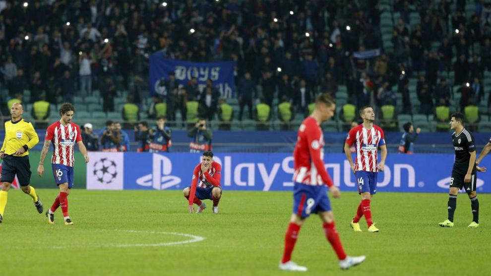 El Atlético se estrelló en Azerbaiyán