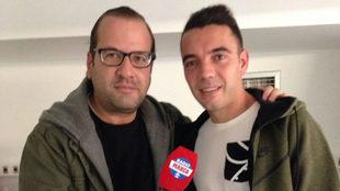 Rafa Valero entrevistando a Iago Aspas