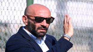 El director deportivo de la Roma. Monchi.