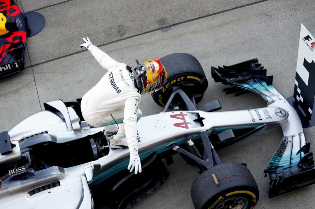 Lewis Hamilton, tras ganar el GP de Japón en Suzuka