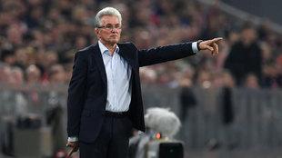 Heynckes, en el partido del Bayern ante Celtic en la Champions League