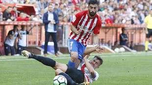 Michael Santos, durante el partido ante el Sevilla Atlético en El...