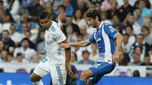Granero (30), junto a Casemiro (25) en el partido de liga entre el...
